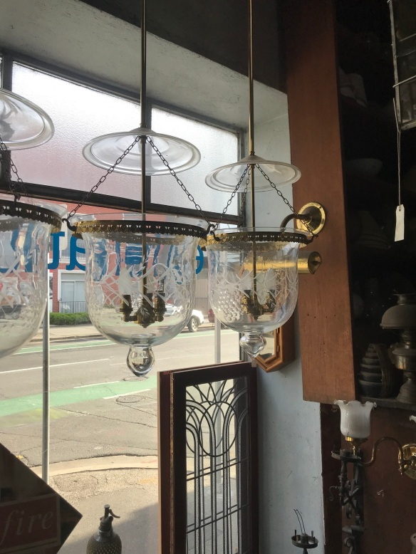 Bell Jar lights, 300 mm diameter, 5 available in various condition, $ 220 -$ 160 each , depending on condition