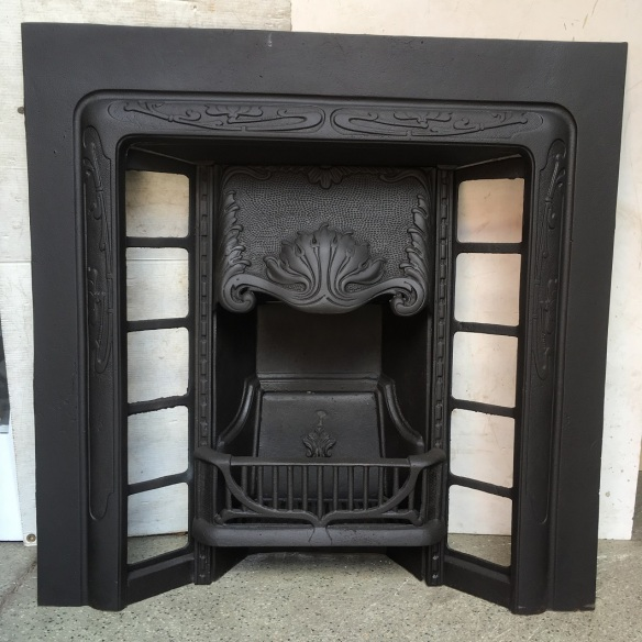 Restored original cast iron fireplace insert, $550 salvaged, recycled, demolition, reproduction, restoration, renovation,collectable, secondhand, used , original, old, reclaimed, heritage, antique, victorian, edwardian, georgian, art deco wood burner, open fire