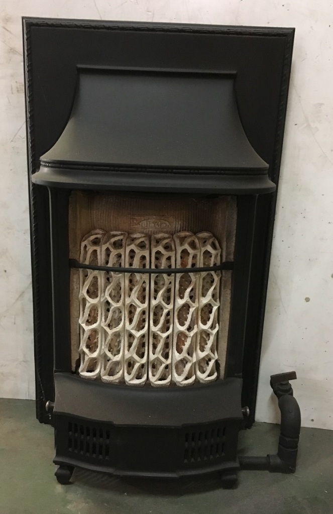 early gas fire, decorative only h610 x w370mm $220