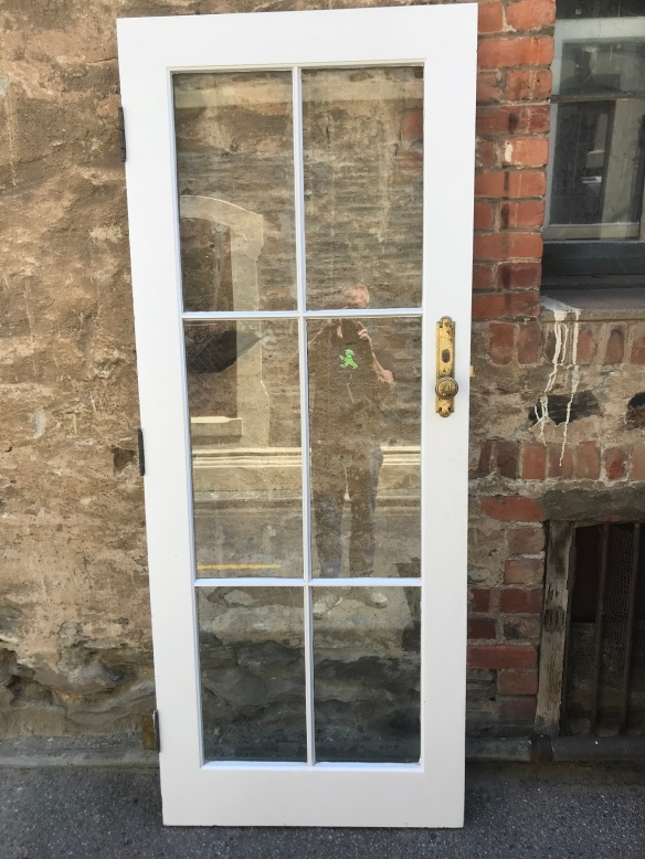 Colonial style glass door, 815 mm x 2047 mm, $ 185