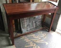 Original Post Office counter, writing slope with ink well holes and pen recesses, ex Largs Bay PO, W1680 x H 1140 x D550mm $220