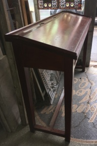 salvaged, recycled, demolition, reproduction, restoration, renovation,collectable, secondhand, used , original, old, reclaimed, heritage, antique, victorian, edwardian, Original Post Office counter, writing slope with ink well holes and pen recesses, ex Largs Bay PO, W1680 x H 1140 x D550mm $220