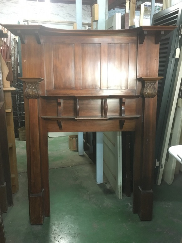 Tall polished fireplace mantel/surround h 1885 x w 1520mm, $485