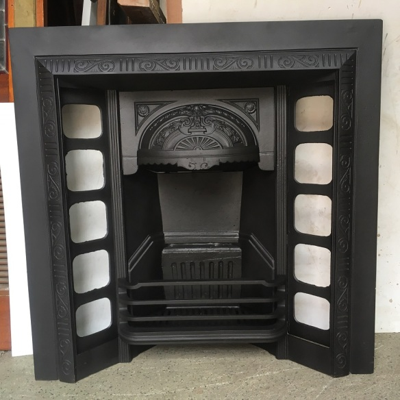 Original Austral foundry cast iron fireplace, 965x965mm, $550 salvaged, recycled, demolition, reproduction, restoration, renovation,collectable, secondhand, used , original, old, reclaimed, heritage, antique, victorian, edwardian, georgian, art deco wood burner, open fire