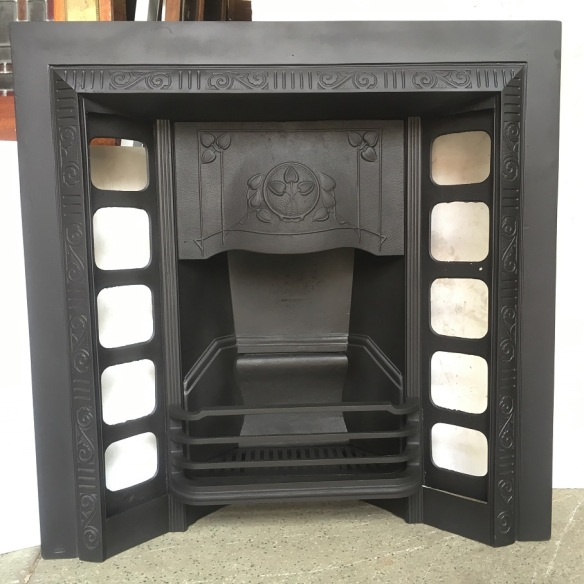 Original Austral cast iron fireplace insert, fully restored 965 x 965mm, $550 salvaged, recycled, demolition, reproduction, restoration, renovation,collectable, secondhand, used , original, old, reclaimed, heritage, antique, victorian, edwardian, georgian, art deco wood burner, open fire