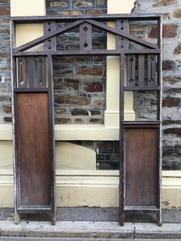 salvaged, recycled, demolition, reproduction, restoration, renovation,collectable, secondhand, used , original, old, reclaimed, heritage, antique, victorian, edwardian, georgian, deco Hall arch , Bungalow style , 1780 mm wide x 2470 mm tall, $ 675