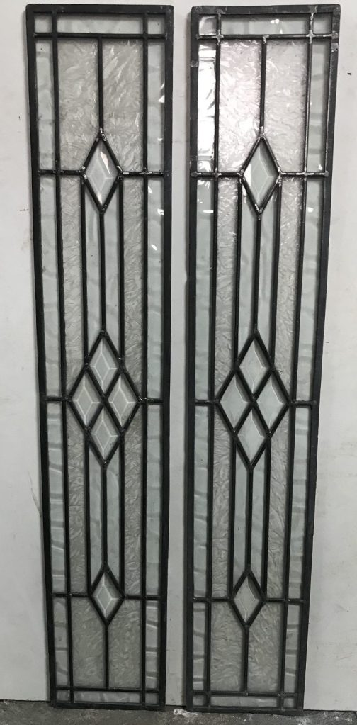 Leadlight panels , 2 available, 1050 mm x 192 mm , $ 185 each panel salvage recycled demolition, reproduction restoration, renovation, collectable, secondhand, used, original, old, reclaimed heritage, antique restored stained glass