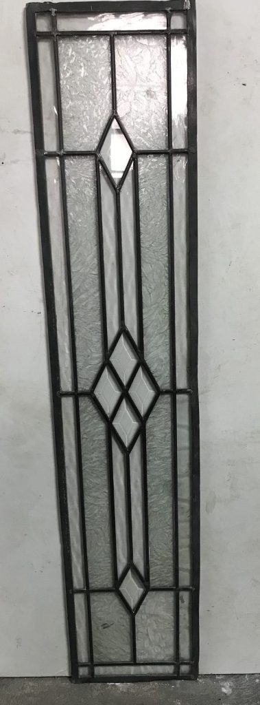 Leadlight panel, 1080 mm x 225 mm , $185 salvage recycled demolition, reproduction restoration, renovation, collectable, secondhand, used, original, old, reclaimed heritage, antique restored stained glass