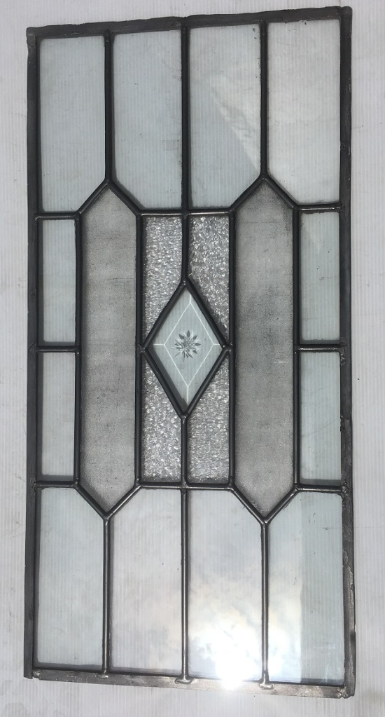 Leadlight panel, 610 mm x 303 mm , $ 110 salvage recycled demolition, reproduction restoration, renovation, collectable, secondhand, used, original, old, reclaimed heritage, antique restored stained glass