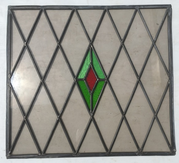 Lead light panel , 575 mm x 415 mm , $ 165 salvage recycled demolition, reproduction restoration, renovation, collectable, secondhand, used, original, old, reclaimed heritage, antique restored stained glass