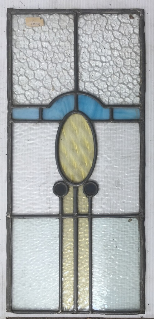 Nice little Arts and Crafts style leadlight panel, 665 mm x 330 mm , $ 220 salvage recycled demolition, reproduction restoration, renovation, collectable, secondhand, used, original, old, reclaimed heritage, antique restored stained glass