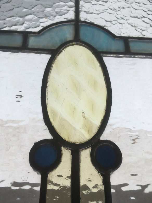 Detail of Arts and Crafts style panel, 665 mm x 330 mm $ 220 salvage recycled demolition, reproduction restoration, renovation, collectable, secondhand, used, original, old, reclaimed heritage, antique restored stained glass