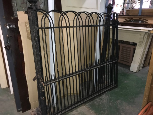 Lovely Pair of Original Victorian Driveway Gates with original cast iron posts, The gates measure 3380 mm tight, x 1560 mm tall , posts are 1700 mm tall , $ 3300 the set