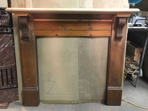 salvaged, recycled, demolition, reproduction, restoration, renovation,collectable, secondhand, used , original, old, reclaimed, heritage, antique, victorian, art nouveau edwardian, georgian, art deco Nice little pine mantle piece, top shelf is 1410 mm , height is 1230 mm , $ 345
