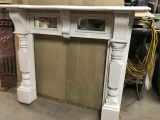 Original Edwardian Kauri Pine mantle with serpentine top , top shelf is 1525 mm , overall height is 1260 mm , $ 350