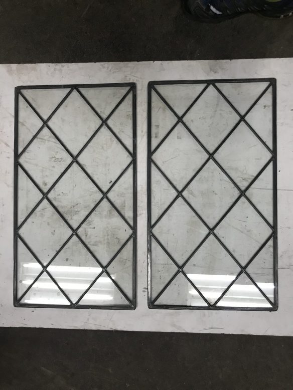 salvaged, recycled, demolition, reproduction, restoration, renovation,collectable, secondhand, used , original, old, reclaimed, heritage, antique, victorian, edwardian, georgian, deco Pair of clear glass panels , 628 mm x 348 mm , $ 95 each panel