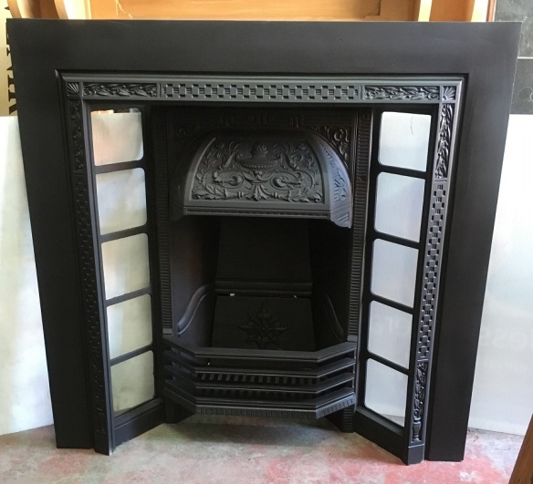 Restored original cast iron fireplace insert, No 340 Carron, 965 x 965mm $550No. 340 Carron, restored, original cast iron fireplace insert, 965 x 965mm $550 salvaged, recycled, demolition, reproduction, restoration, renovation,collectable, secondhand, used , original, old, reclaimed, heritage, antique, victorian, edwardian, georgian, art deco wood burner, open fire