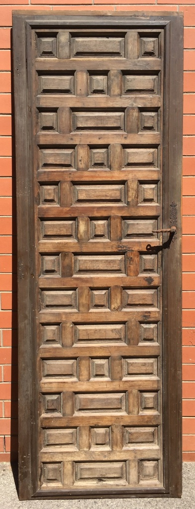 Interesting French panel timber door, 800 x 2385mm $645