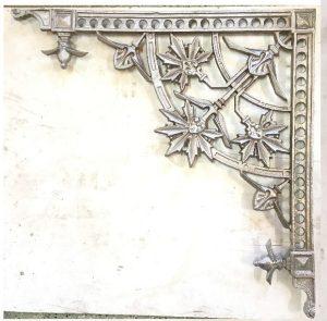 Recast pair of lacework corners, large dimension 700x700 $145 each