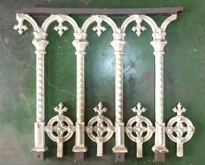 Heavy cast iron balustrade panels , , w720 x h680mm $200 each panel, approx total length 6.5m. Additional panels can be ordered - please enquire as to recasting cost