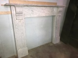 Victorian Cararra mantlepiece, top shelf is 1590 mm long , overall height of mantle is 1190 mm , $ 3500