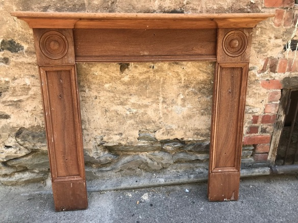 salvaged, recycled, demolition, reproduction, restoration, renovation,collectable, secondhand, used , original, old, reclaimed, heritage, antique, victorian, art nouveau edwardian, georgian, art deco Georgian Cedar mantle piece , has been stripped, top shelf is 1490 mm x 1325 mm tall , opening is 890 mm wide x 1025 mm tall , $ 545