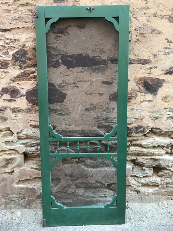 Heritage style screen door, with turned spindles , 820 mm x 2040 mm , $ 145