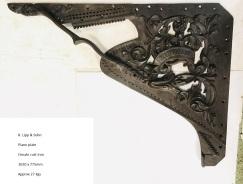 R.Lipp and Sohn cast iron piano plate 1020 x 780mm, 27.5kg