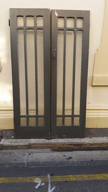 French doors with steel security doors, 1220 mm wide x 2075 mm tall, $ 950 the set ( set is french doors and steel security screens ) French doors have a deadlock and key,