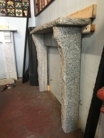 salvaged, recycled, demolition, reproduction, restoration, renovation,collectable, secondhand, used , original, old, reclaimed, heritage, antique, victorian, art nouveau edwardian, georgian, art deco Contemporary style Granite mantlepiece, top shelf is 1325 mm long x 280 mm deep, overall height is 1090 mm , opening is 940 mm wide x 855 mm high , $ 1200