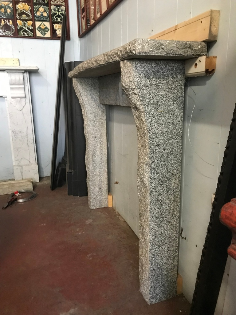 salvaged,Contemporary style Granite mantlepiece, top shelf is 1325 mm long x 280 mm deep, overall height is 1090 mm , opening is 940 mm wide x 855 mm high , $ 1200 recycled, demolition, reproduction, restoration, renovation,collectable, secondhand, used , original, old, reclaimed, heritage, antique, victorian, art nouveau edwardian, georgian, art deco Contemporary style Granite mantlepiece, top shelf is 1325 mm long x 280 mm deep, overall height is 1090 mm , opening is 940 mm wide x 855 mm high , $ 1200