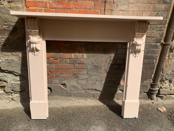 original pine Victorian mantle , top shelf is , 1420 mm x height is 1160 mm , opening is 910 mm wide x 915 mm high , $ 330