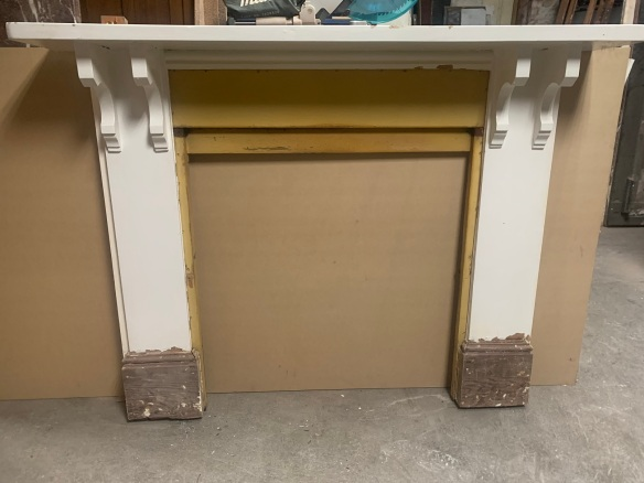 salvaged, recycled, demolition, reproduction, restoration, renovation,collectable, secondhand, used , original, old, reclaimed, heritage, antique, victorian, art nouveau edwardian, georgian, art deco Original pine mantle piece . top shelf is 1645 mm , height is 1260 mm , opening is 915 mm x 915 mm , $ 330