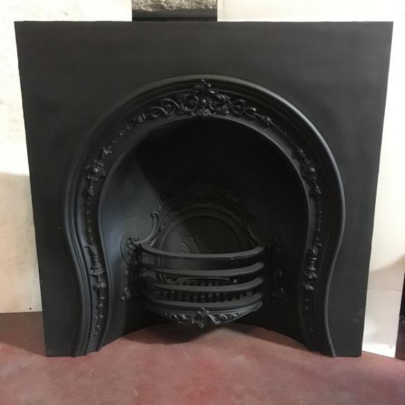 SOLD Original Victorian horseshoe fireplace, ornate