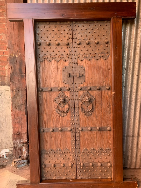 salvaged, recycled, demolition, reproduction, restoration, home renovation secondhand, used , original, old, reclaimed, heritage, antique, victorian, art nouveau edwardian, georgian, art decoDetail of ironwork on chinese doors