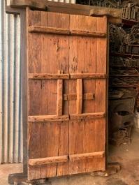 Detail of reverse side of Chinese Doors