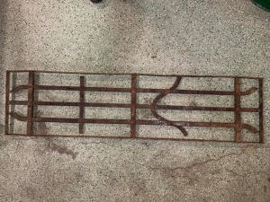P11 , decorative iron panel, 1290 mm x 340 mm , $ 185