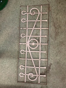 P 7 , Decorative iron panel , 1255 mm x 470 mm , $ 185