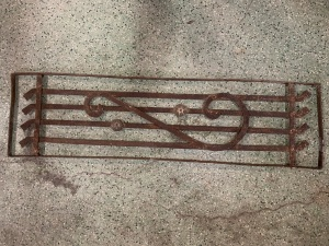 P 5 , Decorative iron panel , 1135 mm x 315 mm , $ 165