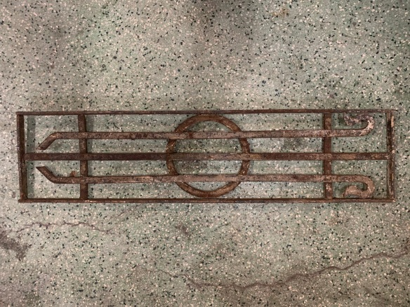 P 4 , Decorative iron panel , 825 mm x 200 mm , $ 145
