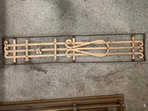 P 2 , Decorative iron panel, 1360 mm x 270 mm , $ 185