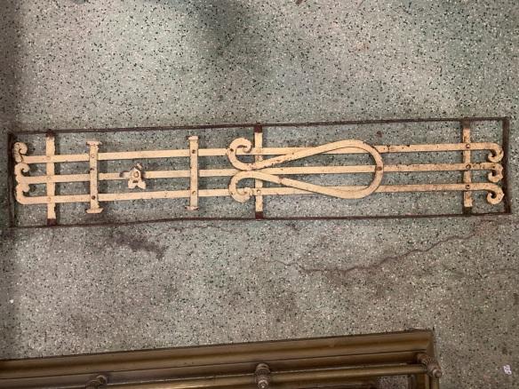 P 2 , Decorative iron panel, 1360 mm x 270 mm , $ 185