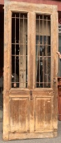 Massive pair of Pine French Doors , with ironwork panels , The photograph is only showing one of the pair, The pair in total is 2520 mm wide x 3210 mm tall and 60 mm thick , $ 1550 the pair salvaged, recycled, demolition, reproduction, restoration, renovation,collectable, secondhand, used , original, old, reclaimed, heritage, antique, victorian, art nouveau edwardian, georgian, art deco
