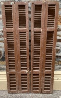Timber Shutters , Bi -Fold set, 4 shutters per set, 1020 mm x 1910 mm tall , 2 sets available , $445 per set SETS E and F salvaged, recycled, demolition, reproduction, restoration, renovation,collectable, secondhand, used , original, old, reclaimed, heritage, antique, victorian, art nouveau edwardian, georgian, art deco