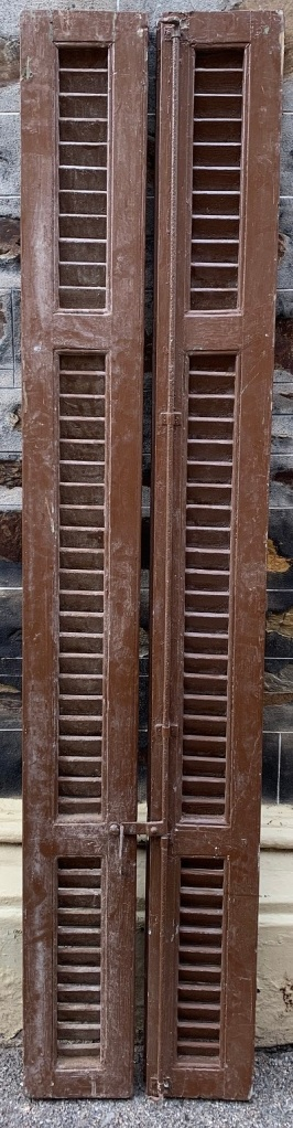 Timber shutters , 410 mm x 1905 mm , $245 the set , SET D
