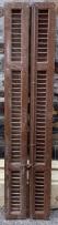 Timber shutters , 410 mm x 1905 mm , $ 245 the set , SET D