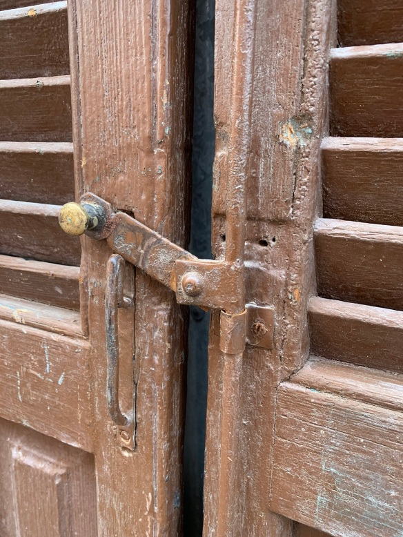 Detail of closing mechanism on shutters