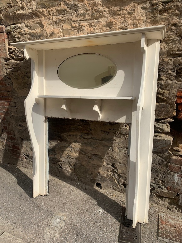Bungalow style mantle piece, top shelf is 1445 mm long, height of mantle is 1690 mm , opening is 915 mm wide x 940 mm tall , $ 330 salvaged, recycled, demolition, reproduction, restoration, renovation,collectable, secondhand, used , original, old, reclaimed, heritage, antique, victorian, art nouveau edwardian, georgian, art deco