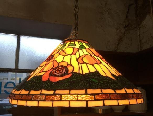 Tiffany style leadlight ceiling light shade, 500mm diameter $440