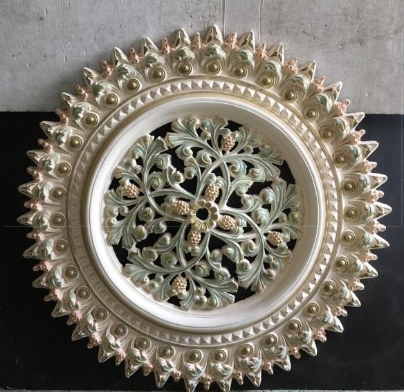 Ornate plaster ceiling rose, 900mm diameter $90